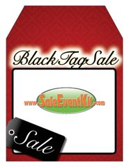 Black Tag Sale Rear View Mirror Hang Tag (50 Pack)