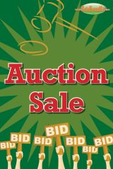 Auction Sale Glossy Poster