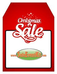 Christmas Sale Rear View Mirror Hang Tag (50 Pack)