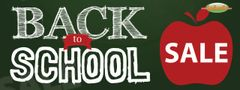 Back to School Sale Vinyl Banner - 3' x 8'