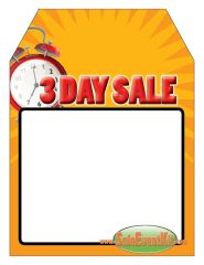3 Day Sale Rear View Mirror Hang Tag (50 Pack)