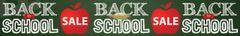 Back to School Sale Large Vinyl Banner - 3'x20'