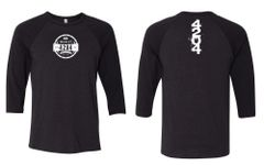 4204 Main Street Brewing Company - 2018 Logo Black Heather 3/4 Sleeve Raglan