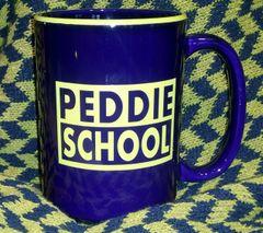 Cobalt and Gold Peddie Mug