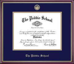 Peddie Diploma Frame