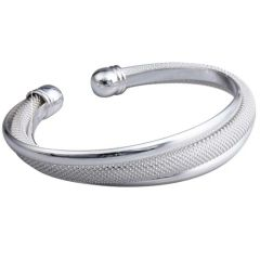 Silver Bracelet with three strand design