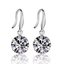 Silver Rhinestone Earrings