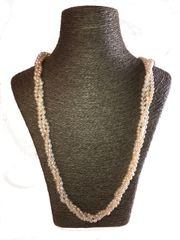 Handknotted Triple Strand Pearl Necklace
