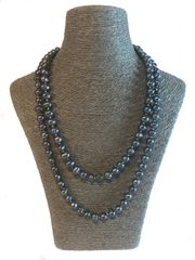 Blue Baroque Pearl Necklace