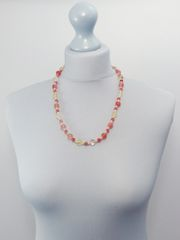 Handmade Italian Glass Pink Necklace