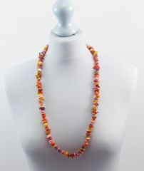 Mother of Pearl Necklace Multi Coloured