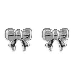 Sterling Silver Small Bow Studs