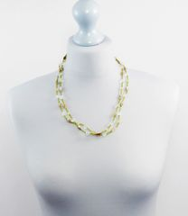 Shell and Glass Single Strand Necklace