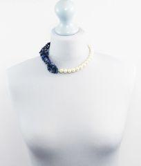 Swarovski Pearl and Lapis Lazuli Necklace