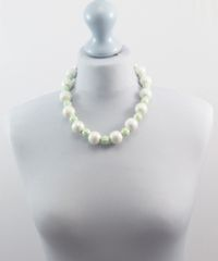 Mint Green and White Necklace