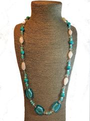Turquoise and Glass Necklace