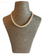 Graduated Swarovski Pearl Necklace