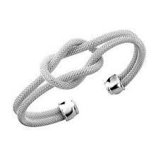 Silver Knotted Bracelet