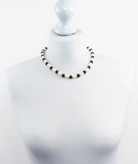 Swarovski Pearl and Obsidian Necklace