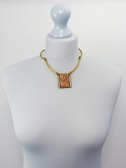 Handmade Copper and Bronze Necklace