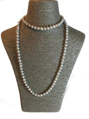 Silver Grey Freshwater Pearl Necklace
