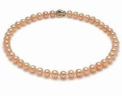 Premium Apricot Pearl Necklace