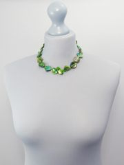 Handmade Mother of Pearl Necklace (Green)