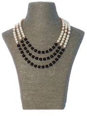 Triple Strand Swarovski Pearl Necklace