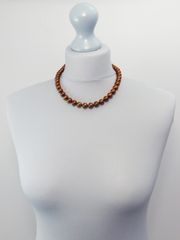 Classic Brown Pearl Necklace