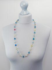 Handmade Italian Blue Glass Necklace