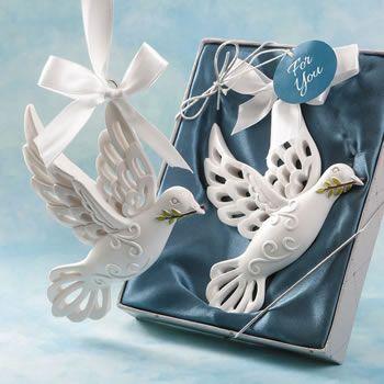 Dove Of Peace Hanging Ornament Fc8887 Wedding Favors Bridal