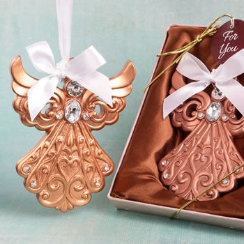 Rose Gold Guardian Angel Ornament Fc8891 Wedding Favors Bridal