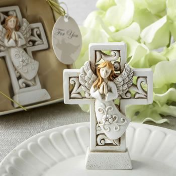 Magnificent Cross Statue With Raised Praying Angel Fc8755
