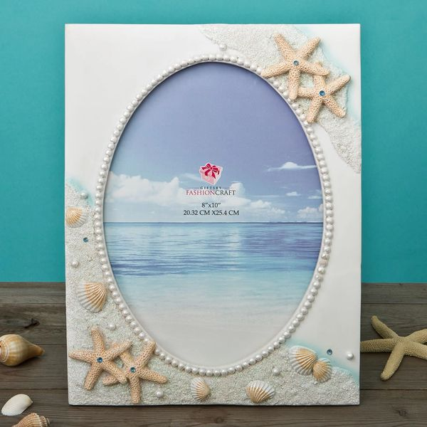Beach Themed Photo Frame 2 Sizes 4 X 6 Or 8 X 10 Fc12801 Wedding