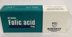 FOLIC ACID 5 MG 30TAB
