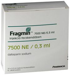 Fragmin 7500/0.3ml 10 amp