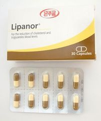 LIPANOR. 100MG.30 CAPS