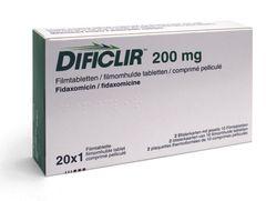 DIFICLIR TABS 20 x 200 mg
