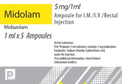 MIDOLAM 5MG/ML 10MLAMP