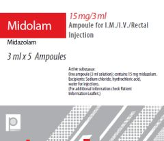 MIDOLAM 5MG/ML 3 MLAMP