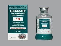 GEMZAR VIAL 1G X1