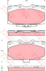 BRAND NEW TRW GDB3307 BRAKE PAD SET- SUBARU IMPREZA