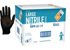 Case of 10 boxes Nitrile Black Gloves 5Mil