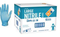 Case of 10 boxes Nitrile Blue Gloves 3.5Mil