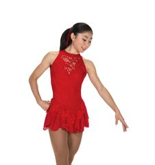 Figure Skating Dress Jerry's Champagne Sequins