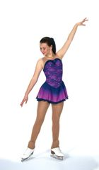 Jerry's Rain on Orchids Figure Skating Dress
