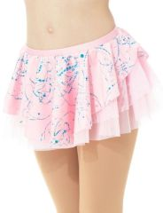 Mondor Pink Splash Double Layer Pull On Skirt