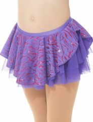 Mondor Purple Tiger Double Layer Mesh Pull On Skirt
