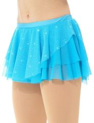 Mondor Tropical Double Layer Glitter Mesh Pull On Skirt