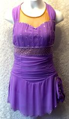 Figure Skating Dress Lilac Mesh Ladies Extra Small by Sharene